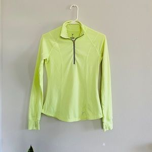 Old Navy Active LS Neon Green Pullover Shirt Sz XS